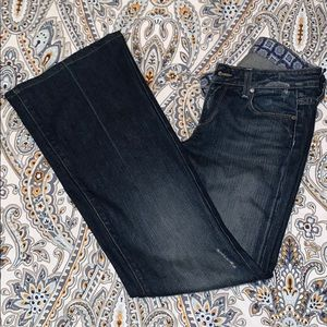 """Paige """"Robertson"""" Distressed Bell Bottom Jeans"""